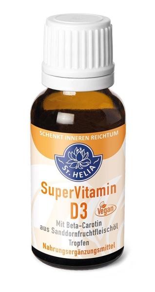 St. Helia Super Vitamin D3, hochdosiert, 1000 IE, Tropfen, 20 ml, vegan
